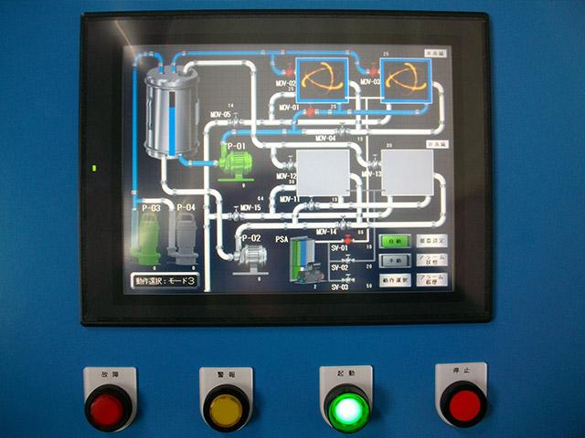 排水 標準活性汚泥法処理 操作パネル